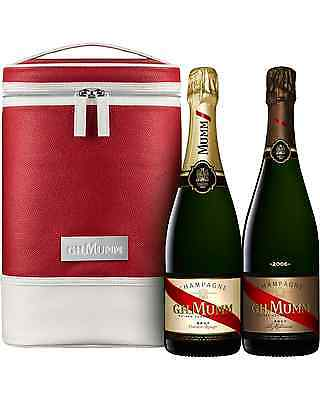 Mumm Cordon Rouge Brut & Vintage Twin Cooler Bag pack Sparkling White Wine