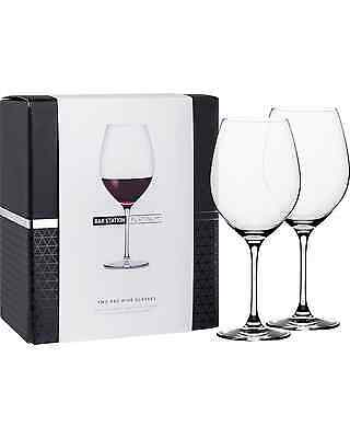 Bar Station Platinum Red Wine Glasses 2 Pack pack (2) Bar Accessories