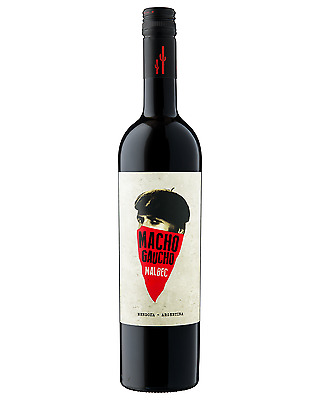 Macho Gaucho Malbec case of 6 Dry Red Wine 750mL Mendoza