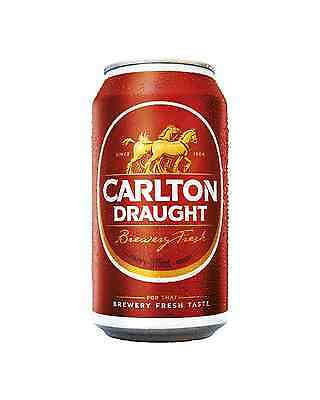 Carlton Draught Cans 375mL case of 24 Australian Beer Lager