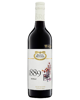 Brown Brothers 18 Eighty Nine Shiraz case of 6 Dry Red Wine 750mL Heathcote