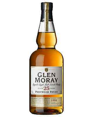 Glen Moray 25 Year Old Portwood Finish Scotch Whisky 700mL bottle Single Malt