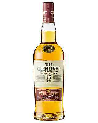 The Glenlivet 15 Year Old Scotch Whisky 700mL case of 6 Single Malt Speyside