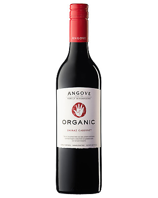 Angove Organic Shiraz Cabernet bottle Dry Red Wine 750mL