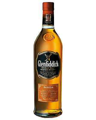 Glenfiddich 14 Year Old Rich Oak Scotch Whisky 700mL case of 3 Single Malt