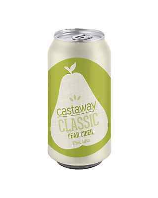 Castaway Classic Pear Cider Cans 10 Pack 375mL case of 30 Pear/Perry Cider