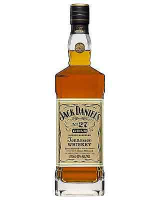Jack Daniel's No. 27 Gold Tennessee Whiskey 700mL case of 3 Bourbon