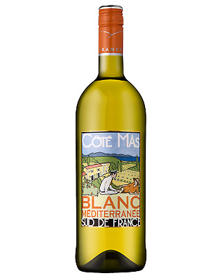 Cote Mas Blanc Mediterranee Côté Mas case of 6 White Blend Dry White Wine 750mL