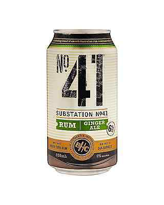 Substation No.41 Rum and Ginger Ale 375mL case of 24