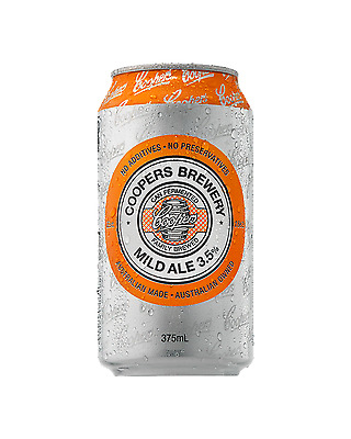 Coopers Mild Ale Cans 375mL case of 24 Mid Strength Beer