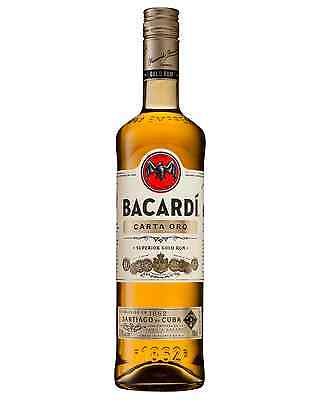 Bacardi Carta Oro Superior Gold Rum 700mL case of 6 Dark Rum