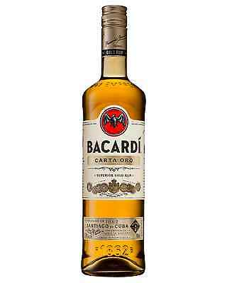 Bacardi Carta Oro Superior Gold Rum 700mL bottle Dark Rum