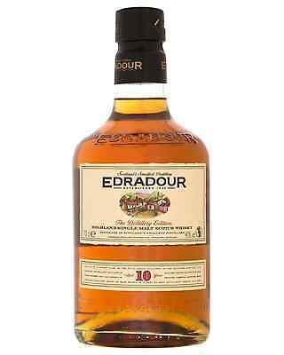 Edradour 10 Year Old Scotch Whisky 700mL case of 6 Single Malt
