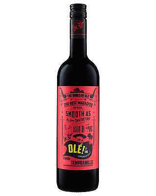 Olé! Tempranillo Vino Tinto case of 6 Dry Red Wine 750mL