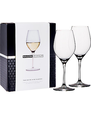 Bar Station Platinum White Wine Glasses 2 Pack pack (2) Bar Accessories