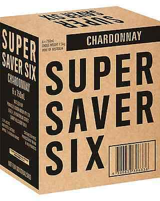 Super Saver Six Chardonnay case of 6 Dry White Wine 750mL