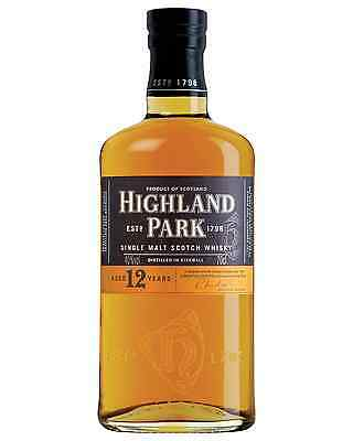 Highland Park 12 Year Old Scotch Whisky 700mL case of 6 Single Malt