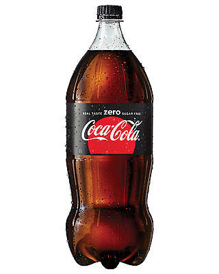Coca-Cola Zero Bottle 2L case of 8 Soft Drinks