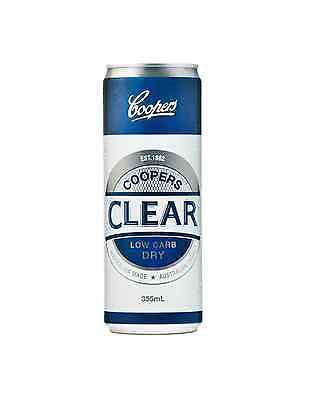 Coopers Clear Cans 355mL case of 24 Low Carb Beer Lager