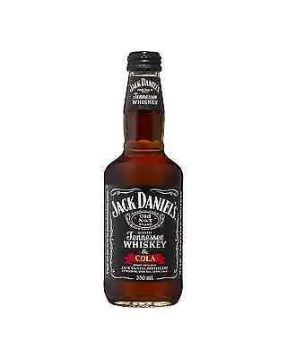 Jack Daniel's Tennessee Whiskey & Cola Bottle 330mL case of 24 American Whiskey