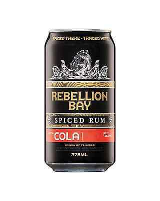 Rebellion Bay Spiced Rum & Cola Cans 375mL case of 24