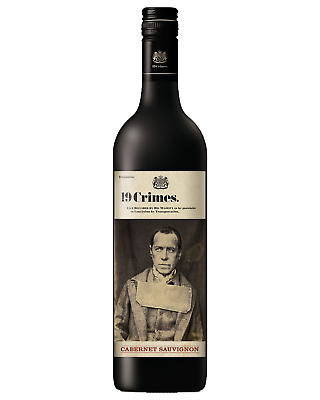 19 Crimes Cabernet Sauvignon case of 6 Dry Red Wine 750mL