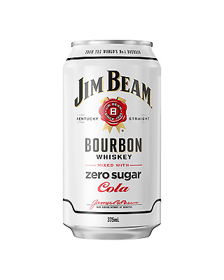 Jim Beam White Label Bourbon & Zero Sugar Cola Cans 375mL case of 24