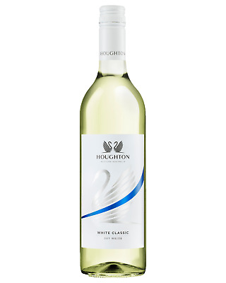 Houghton White Classic case of 6 White Blend Dry White Wine 750mL Swan Valley