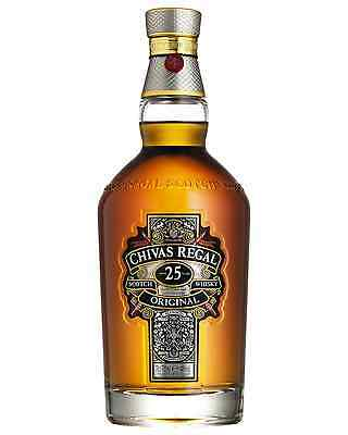 Chivas Regal 25 Year Old Scotch Whisky 700mL case of 3 Blended Whisky