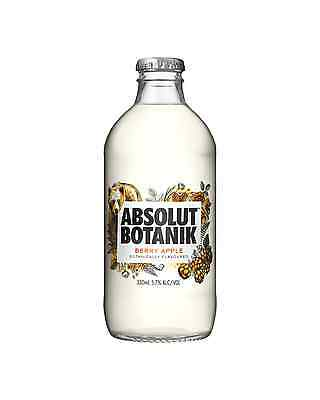 Absolut Botanik Berry Apple & Vodka 330mL case of 12