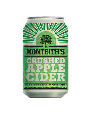 Monteith's Crushed Apple Cider Cans 10 Pack 330mL case of 30