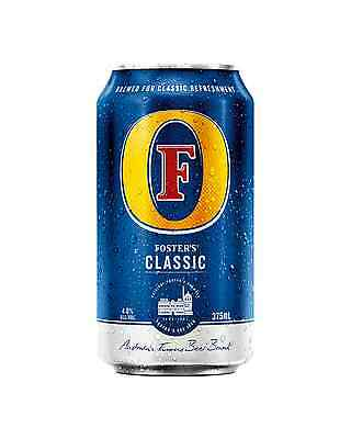 Foster's Classic Lager Cans 375mL case of 24 Australian Beer