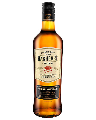 Bacardi Oakheart Spiced Rum 700mL case of 6 Dark Spirit Spiced Dark Spirit