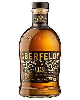 Aberfeldy 12 Year Old Single Malt Scotch Whisky 700mL case of 6 Highland