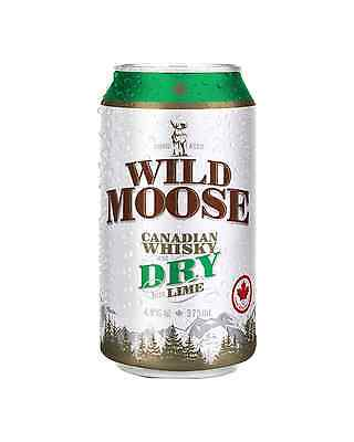 Wild Moose Canadian Whisky Dry & Lime Cans 375mL case of 24