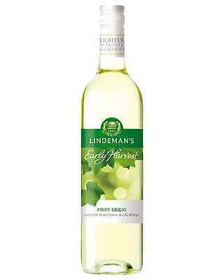 Lindeman's Early Harvest Pinot Grigio case of 6 Dry White Wine 750mL