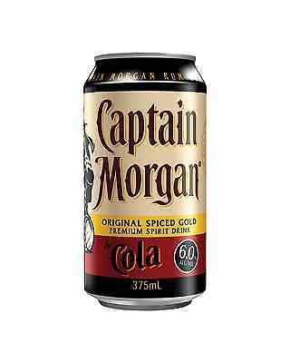 Captain Morgan Original Spiced Gold & Cola 10 Pack 375mL pack of 10 Spiced Rum