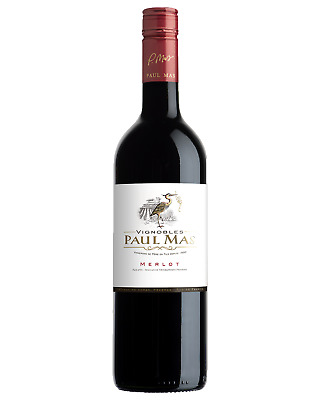 Paul Mas Merlot case of 6 Dry Red Wine 750mL Languedoc-Roussillon