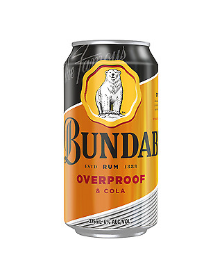 Bundaberg OP Rum & Cola Cans 10 Pack 375mL case of 30