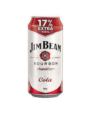 Jim Beam White Label Bourbon & Cola Cans 440mL case of 24 American Whiskey