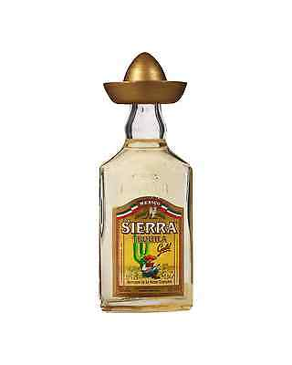 Sierra Gold Tequila 40mL bottle Reposado