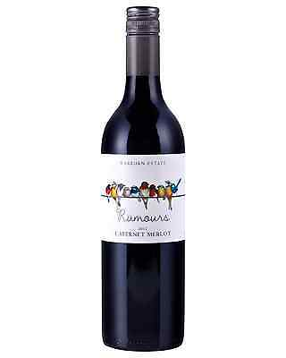 Warburn Rumours Cabernet Merlot case of 6 Dry Red Wine 750mL