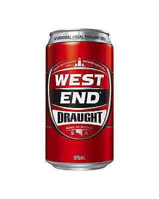 West End Draught Cans 30 Block 375mL case of 30 Australian Beer - Everyday Lager