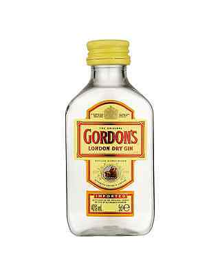 Gordon's London Dry Gin 50mL case of 12
