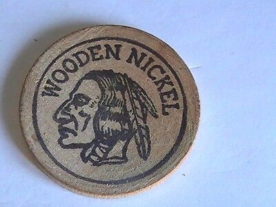 1965 Wooden Nickel Token Beaver Coin Club 4th Annual Show Columbiana, Ohio