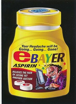 #4 eBAYER ASPIRIN 2017 Wacky Packages 50th Anniversary APP eBAY