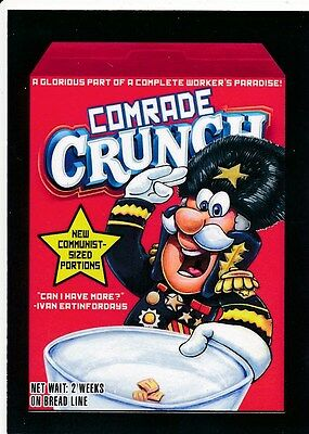 #1 COMRADE CRUNCH 2017 Wacky Packages 50th Anniversary CEREAL CAP'N