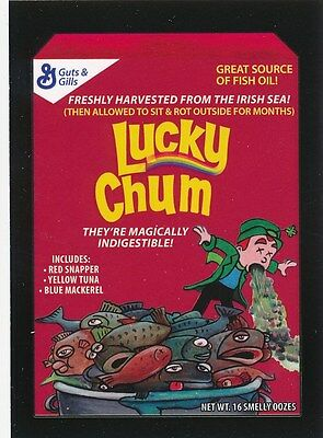 #7 LUCKY CHUM 2017 Wacky Packages 50th Anniversary CEREAL LUCKY CHARMS