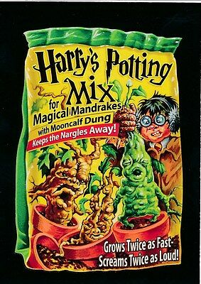 #2 HARRY'S POTTING MIX 2017 Wacky Packages 50th Anniversary MOVIE HARRY POTTER