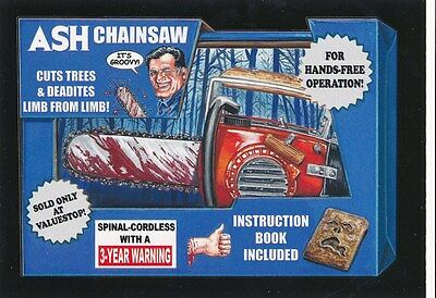 #3 ASH CHAINSAW 2017 Wacky Packages 50th Anniversary MOVIE EVIL DEAD